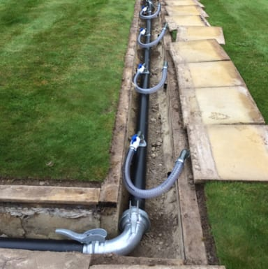 Permanent dewatering system at a residential home in Rickmansworth to stabilise the ground@2x